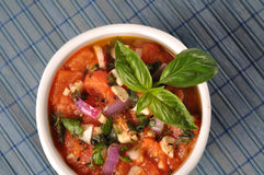 Salsa mediterrânea do tomate Foto de Stock Royalty Free