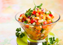 Salsa with melon Stock Photos