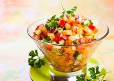 Salsa met meloen Stock Foto's