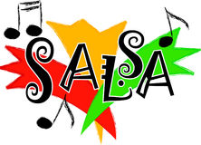 Salsa music/eps. Stylized illustration representing salsa music...part of a series of four music styles...eps available