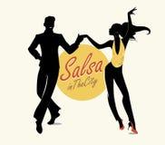 Salsa na cidade tropical ilustração royalty free