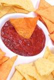 salsa nachos εμβύθισης Στοκ Εικόνα