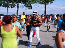 Salsa  at Orchard Beach Stock Photography