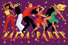 Salsa party poster Royalty Free Stock Photo