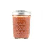Salsa roja conservada en un tarro de cristal Fotos de archivo libres de regalías