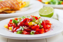 Salsa salad for hot summer Royalty Free Stock Image