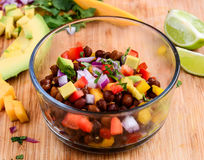 Salsa Salad. With lentils Avocado and Mango royalty free stock images