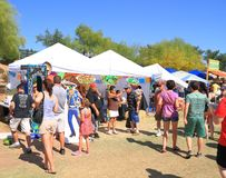 USA/Tempe: Annual Salsa Fair - Is it hot? Stock Image