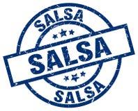 Salsa stamp. Salsa round grunge stamp isolated on white background Stock Photos