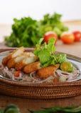 Salsa tailandesa con los pescados imagen de archivo libre de regalías