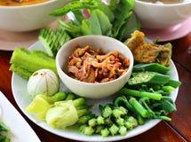 Salsa tailandese della pasta del gamberetto di cucina Immagine Stock