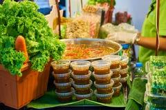 Salsa tailandese nel mercato Bangkok Tailandia Immagini Stock