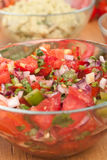 Salsa with Tomatoes, Onions, and Cilantro Stock Image