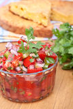 Salsa with Tomatoes, Onions, and Cilantro Royalty Free Stock Photography