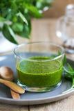 Salsa verde. Homemade mix herbs Salsa verde Stock Photo