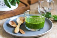 Salsa verde. Homemade mix herbs Salsa verde Royalty Free Stock Photo