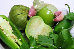 Salsa Verde Ingrediants Royalty Free Stock Images