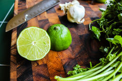 Salsa Verde Ingredients Stock Image