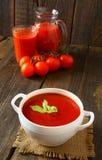 Salsa y jugo de tomate Fotos de archivo libres de regalías
