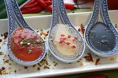 Salsas asiáticas Imagen de archivo libre de regalías