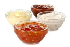Salsas clasificadas Foto de archivo