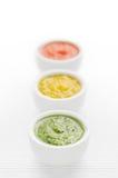 Salsas coloridas foto de archivo