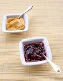 Salsas del arándano y de curry Foto de archivo libre de regalías