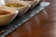 Salsas hechas en casa fotos de archivo libres de regalías