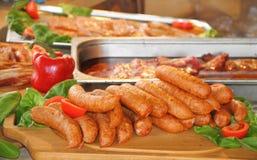 Salsicce di maiale casalinghe Fotografie Stock