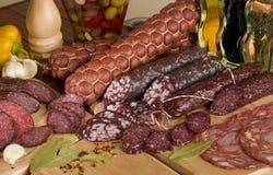 Salsiccia affettata Fotografia Stock