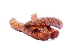 Salsiccia affumicata di alta qualità saporita Fotografia Stock Libera da Diritti