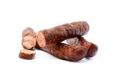 Salsiccia affumicata di alta qualità saporita Immagini Stock