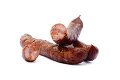 Salsiccia affumicata di alta qualità saporita Fotografia Stock