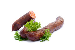 Salsiccia affumicata di alta qualità saporita Immagine Stock