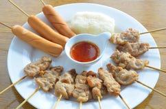 Salsiccia arrostita della carne di maiale arrostita immagine stock libera da diritti