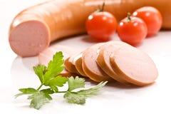 Salsiccia bollita fotografia stock libera da diritti
