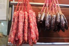 Salsiccia cinese fotografie stock