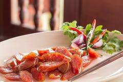 Salsiccia cinese dell'alimento Immagine Stock