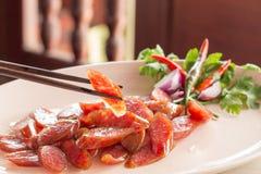 Salsiccia cinese dell'alimento Immagini Stock