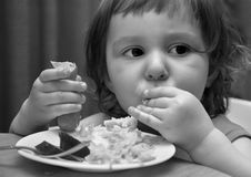 Salsiccia con maccheroni Immagine Stock Libera da Diritti