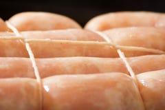 Salsiccia cruda del pollo Immagini Stock Libere da Diritti