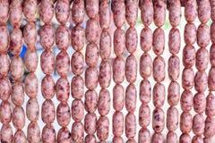 Salsiccia dalla Tailandia di nordest Fotografia Stock