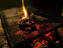 salsiccia del barbecue fotografia stock