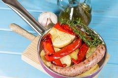 Salsiccia del pepe fotografie stock