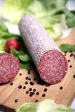 Salsiccia del salame Fotografie Stock Libere da Diritti