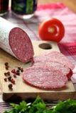 Salsiccia del salame Immagine Stock