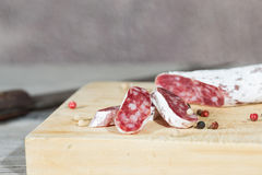 Salsiccia del salame fotografia stock