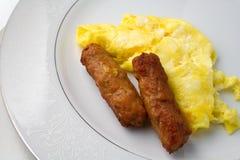 Salsiccia dell'uovo fotografia stock libera da diritti
