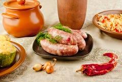Salsiccia della carne Fotografia Stock