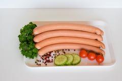 Salsiccia della salciccia, Wienerwurst, alimento, salsiccia tedesca della salciccia, Wurst della salciccia Immagine Stock
